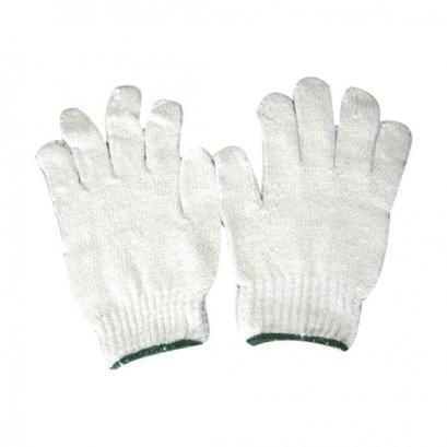 ถุงมือผ้าทอ 700 กรัม เทาขอบเขียว