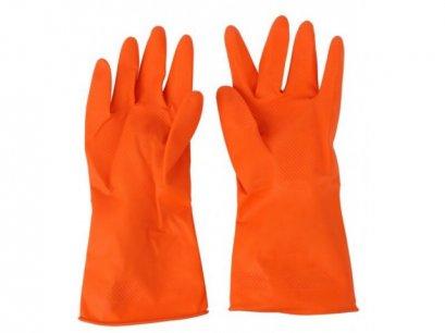 ถุงมือยางสีส้ม EagleOne L