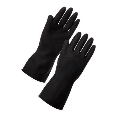 """ถุงมือยาง 10"""" สีดำ"""