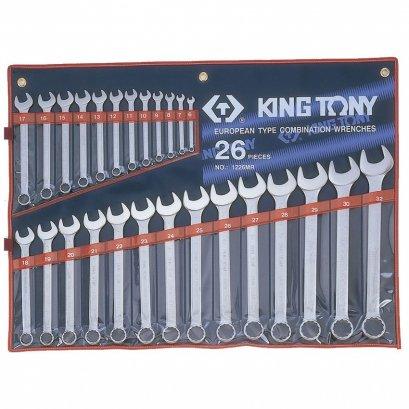 ประแจแหวนข้าง-ปากตาย KING TONY 26ตัว/ชุด เบอร์ 6-32