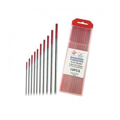 ลวดเชื่อมทังสเตน สีแดง ขนาด 2.4มม. (10 เส้น/กล่อง)
