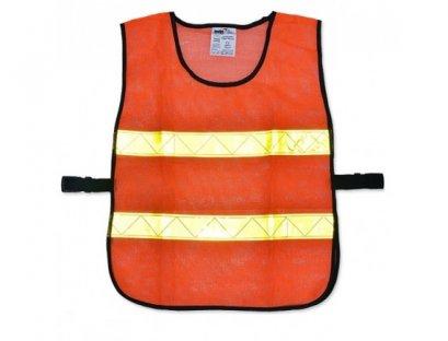 เสื้อจราจรตาข่าย รุ่น OR-6045U สีส้มแถบสีเหลือง SOMO