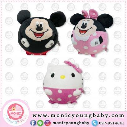 ลูกบอลผ้า มีลาย Hello Kitty / Minnie / Mickey