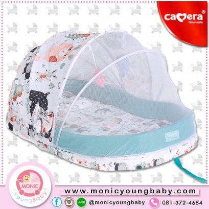 ชุดมุ้งเด็กหลังคาบังแสงครึ่งนึง+เบาะที่นอน Camera DOME Baby Net Size เล็ก