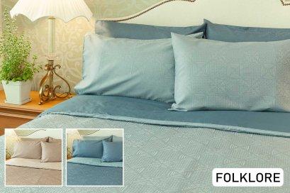 ชุดเครื่องนอน exotica ผ้าปูที่นอน 6 ฟุต 5 ฟุต 3.5 ฟุต ปลอกผ้านวม ปลอกหมอน สีพื้น ทอลายในตัว