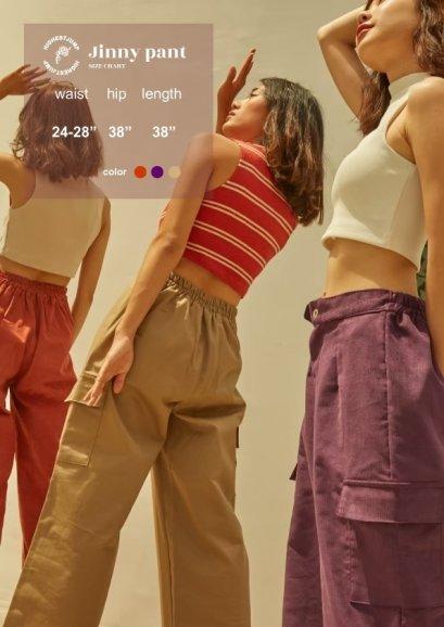 HIGHTESTJUMP : Jinny pant purple