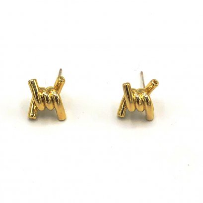 PREPPY GIRL : Gold Barbed Earrings