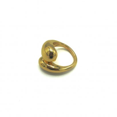 PREPPY GIRL : Gold Half Circle Shape Ring