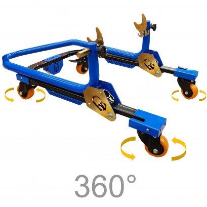 Titan Tech 360°Motorcycle Rear Paddock Stand (Ocean Blue)