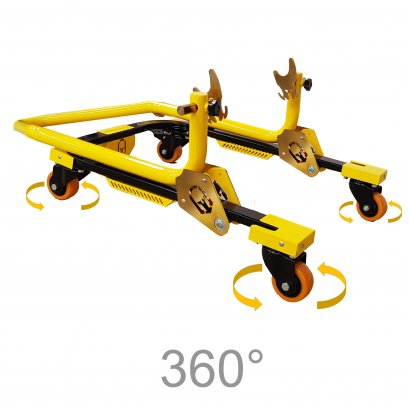 Titan Tech 360°Motorcycle Rear Paddock Stand (Racing Yellow)