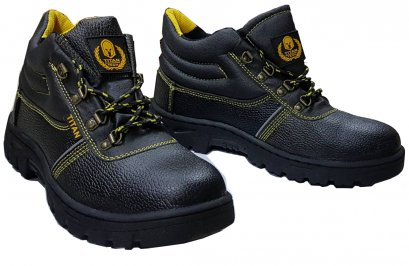 SAFETY SHOE PU LEATHER [HIGH-CUT]