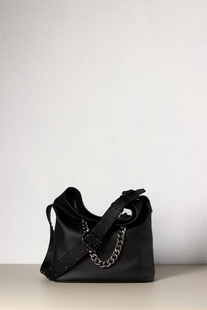 WAYNE bucket bag microfiber leather