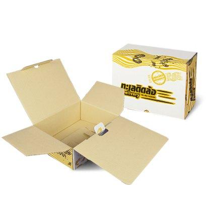 กล่องไดคัทฝาเสียบขนาด : 16.5 x 25.5 x 6 cm.