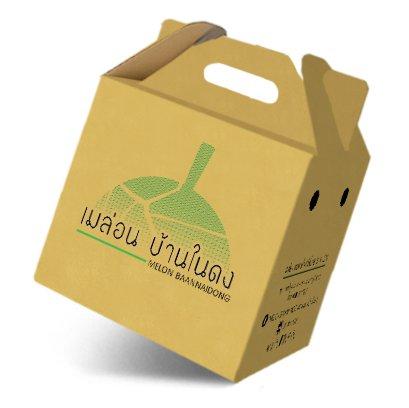 กล่องเมล่อน,กล่องผลไม้ Brand : เมล่อน บ้านในดง
