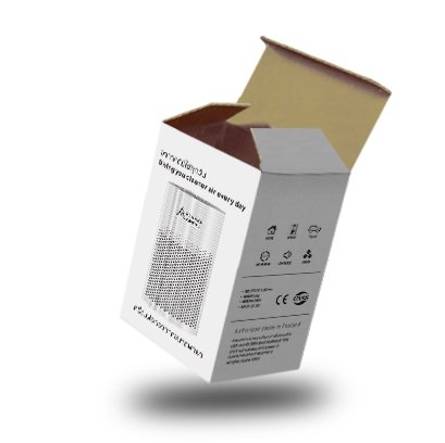กล่องไดคัทฝาเสียบขนาด : 10 x 10 x 18 cm.
