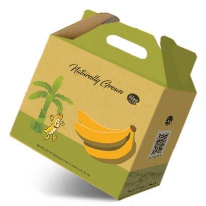กล่องกล้วย,กล่องผลไม้ Brand : Naturally Grown