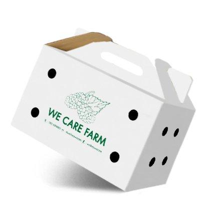 กล่องไดคัทหูหิ้วขนาด : 9 x 16 x 9.5 cm.