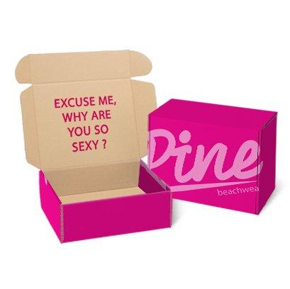 กล่องเสื้อผ้าสินค้าแฟชั่น Brand : Pine