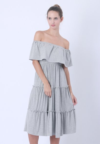 Off Shoulder Layer Dress