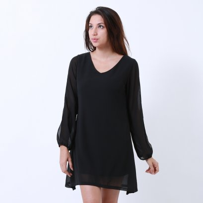 V Neckline Dress