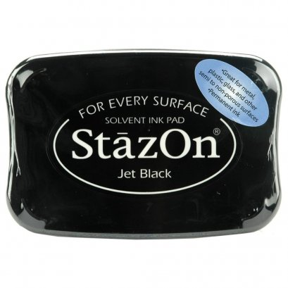 Staz On - Jet Black (Transparent ink-Big)