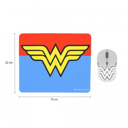 Premium Mouse Pad (legally licensed) Logo WONDER WOMAN