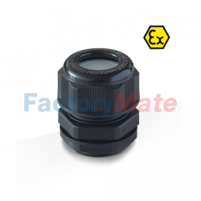 Black ATEX Nylon Cable Gland Cable Glands Atex Polyamide IP68