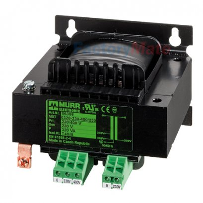 MST SINGLE-PHASE CONTROL AND ISOLATION TRANSFORMER P:415VA IN:230/400/460VAC±10VAC±20VAC OUT:24/230VAC