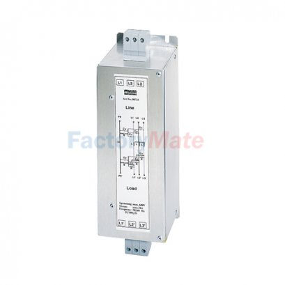 MEF EMC-FILTER 3-PHASE 1-STAGE I:8A,16A,25A,36A,50A,80A,110A,180A U:3x600 VAC book-style