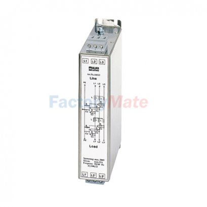 MEF EMC-FILTER 3-PHASE 2-STAGE I:8A,12A,16A,25A,36A,50A,80A U:3x500 VAC book-style