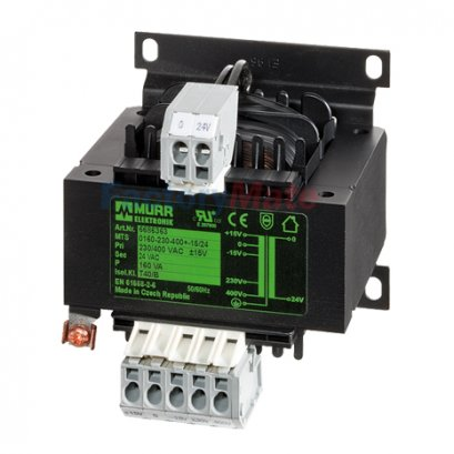 MTS 1-PHASE CONTROL AND ISOLATION TRANSFORMER P: 40-250VA IN: 230/400VAC +/- 15VAC OUT: 230VAC