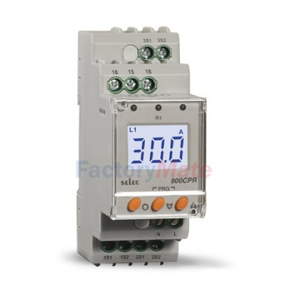 3Ø-Digital Current Protection Relay, With backlight [900CPR-3-1-BL]