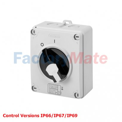 70 RT HP - ISOLATOR - HP - COMMAND - ISOLATING MATERIAL BOX - 16A-160A- LOCKABLE BLACK KNOB - IP66/67/69