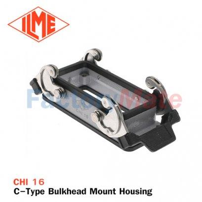 ILME CHI-16 C-Type Bulkhead Mount Housing | Connector 16 pin,Connector 16 pole