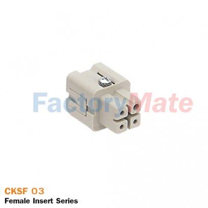 "ILME CKSF 03 | Female insert, CKS series, spring terminal connection, 3 poles + PE, 10 A 400 V 4 kV 3, size ""21.21"""