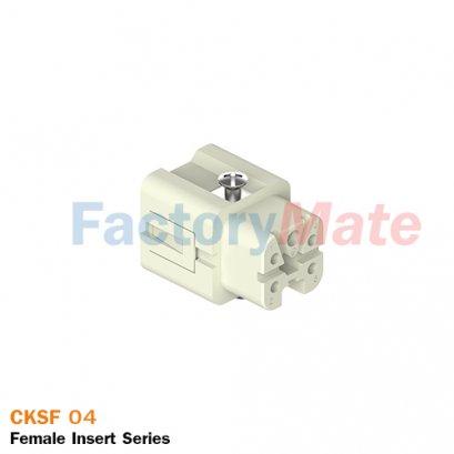 "ILME CKSF 04 | Female insert, CKS series, spring terminal connection, 4 poles + PE, 10 A 400 V 4 kV 3, size ""21.21"""