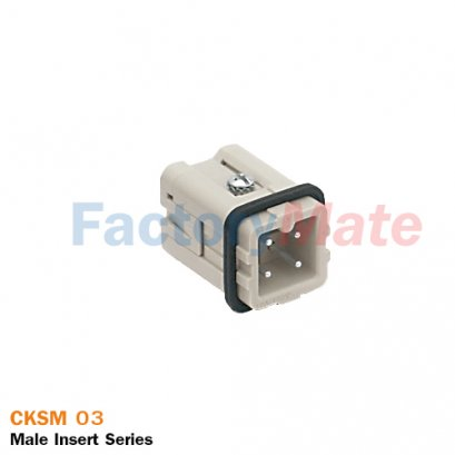 "ILME CKSM 03 | Male insert, CKS series, spring terminal connection, 3 poles + PE, 10 A 400 V 4 kV 3, size ""21.21"""