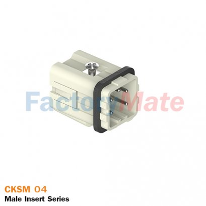 "ILME CKSM 04 | Male insert, CKS series, spring terminal connection, 4 poles + PE, 10 A 400 V 4 kV 3, size ""21.21"""