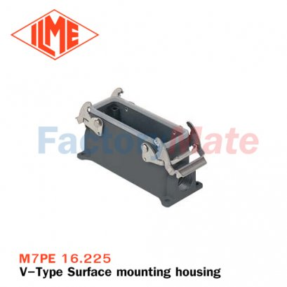 """ILME M7PE 16.225 Surface mounting housing, E-Xtreme® V-TYPE series, with 2 levers, M25 x 2 cable entry, size """"77.27"""""""