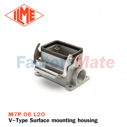 "ILME M7P 06 L20 Surface mounting housing, V-TYPE series, with 1 lever, M20 cable entry, size ""44.27"""