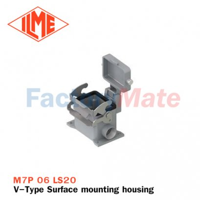 "ILME M7P 06 LS20 Surface mounting housing, V-TYPE series, with 1 lever, M20 cable entry, size ""44.27"", with metal cover"