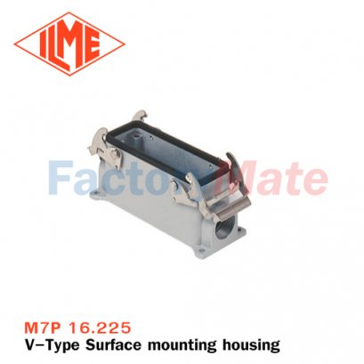"ILME M7P 16.225 Surface mounting housing, V-TYPE series, with 2 levers, M25 x 2 cable entry, size ""77.27"""