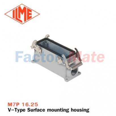 "ILME M7P 16.25 Surface mounting housing, V-TYPE series, with 2 levers, M25 cable entry, size ""77.27"""
