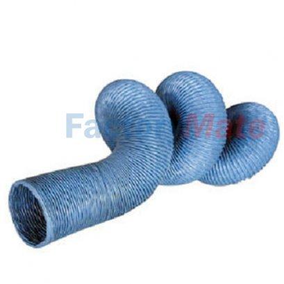 ท่อผ้าใบทาร์โพลีนเส้นใยไฟเบอร์ ท่อผ้าใบสีฟ้า เคลือบพีวีซี