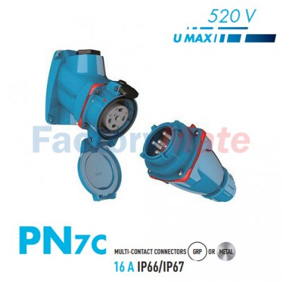 MARECHAL PN7C PLUGS – 7 CONTACTS 25A 500V IP66/67 MULTI-CONTACT CONNECTORS