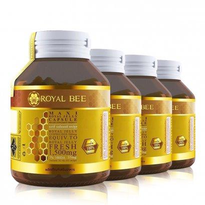 นมผึ้งรอยัลบี 60 แคปซูล 4 กระปุก