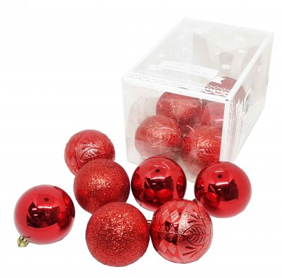 BAUBLE PACK 80 mm.
