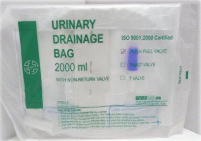 ถุงปัสสาวะเทล่าง T-valve 2,000 ซีซี BMI