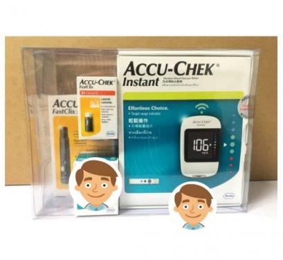 เครื่องตรวจน้ำตาล Accu-Chek Instant (ไม่แถมแผ่น)