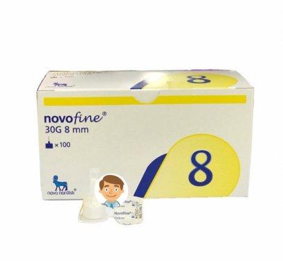 เข็ม NovoFine 30Gx8mm (กล่องเหลือง) (ขายแยก 1 อัน)